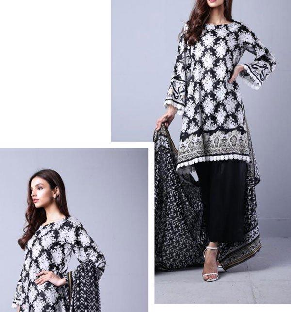Sahil Printed Lawn Suit with Lawn Dupatta (SL-22) (Unstitched)