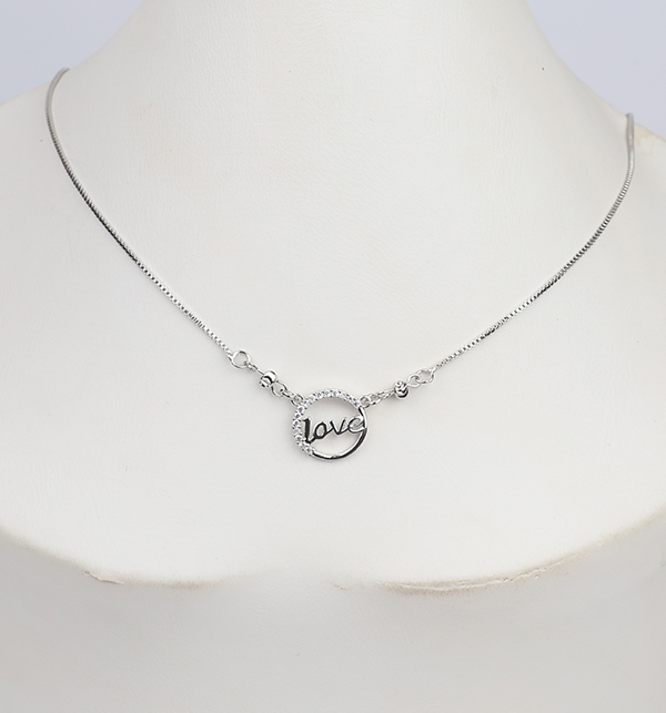 Silver Love Pendant For Her (PS-278)