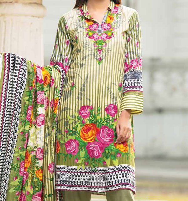 Star Lawn Suit With Lawn Duppata (SC-1010B) (Unstitched)