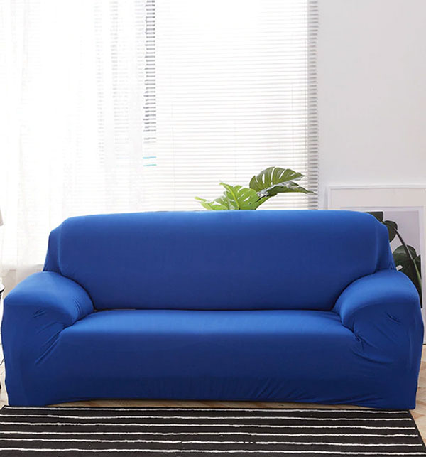 Stretch Fitted Sofa Cover - 5 Seater (3 + 1 + 1 Seater) Royal Blue