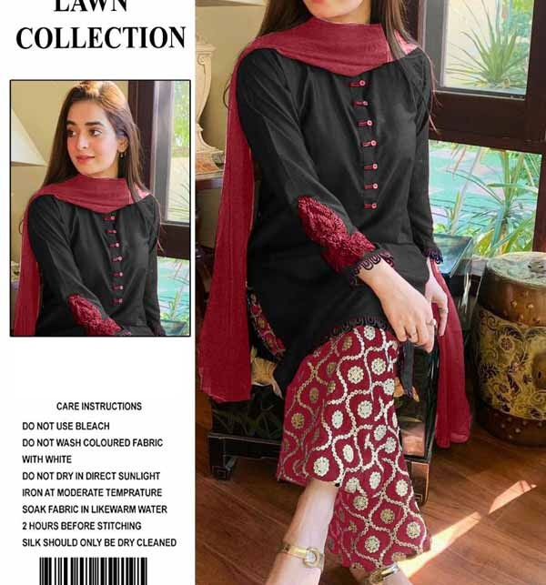 Stylish Lawn Full Heavy Embroidered Suit EMB Trouser (DRL-722)
