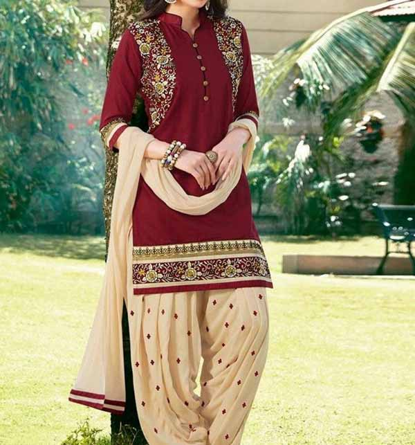 Linen Embroidered Suit WIth Embroidery Trouser Embroidered Stylish 2 PCS Dress (LN-232)