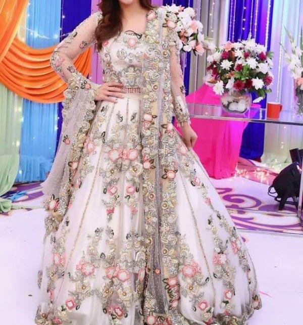 Stylish Full Maxi Net Bridal Dresses 2021 - (UnStitched) (CHI-350)