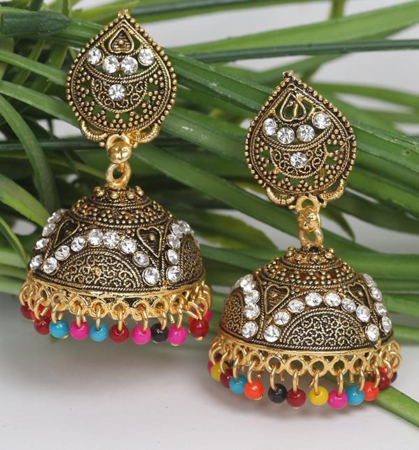 Stylish Jhumka With Multi Beads Earrings (JL-12)