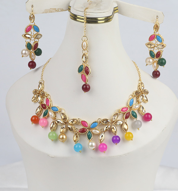 Stylish Multi Color neacklace Set For Women (PS-345)