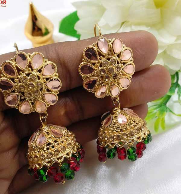 Stylish MULTI-COLOR Round Shape Earrings For Women (JL-35)