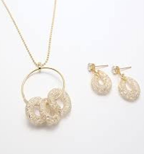 Stylish Necklace With Earrings (PS-128)