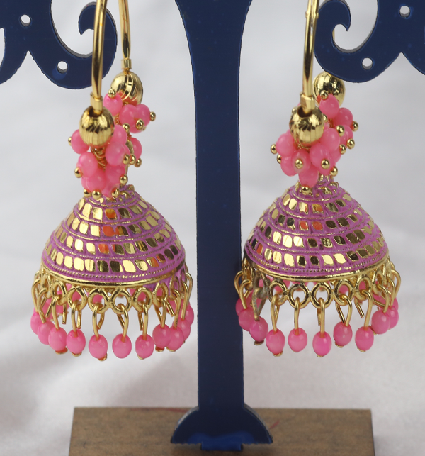 Stylish Round Shape Earrings For Girls (JL-39)