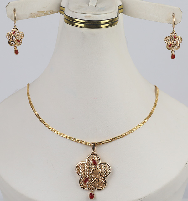 Locket Set With Earing  For Women (PS-359)