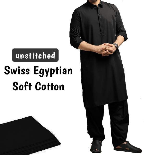 Orignal Swiss Men's Soft Egyptian Cotton Shalwar Kameez Unstitched (Swiss-2)