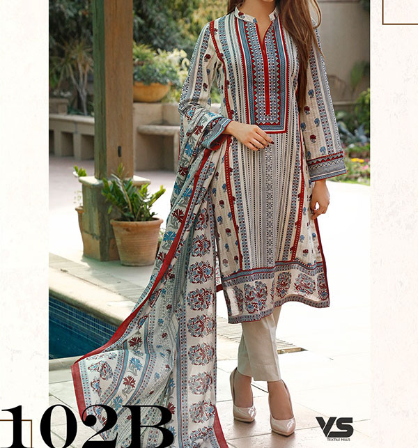 VS Classic Orignal LAWN Suit With Printed Lawn Dupatta VOL-1 (102-B)