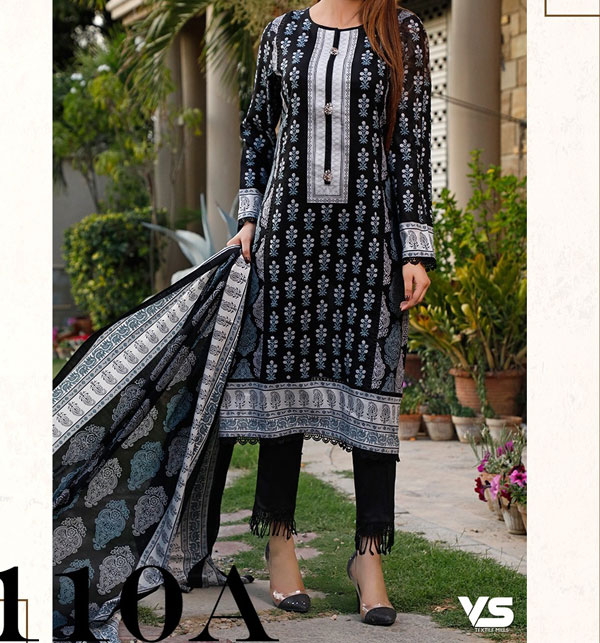 VS Classic LAWN Suit With Printed Lawn Dupatta VOL-1 (110-A)