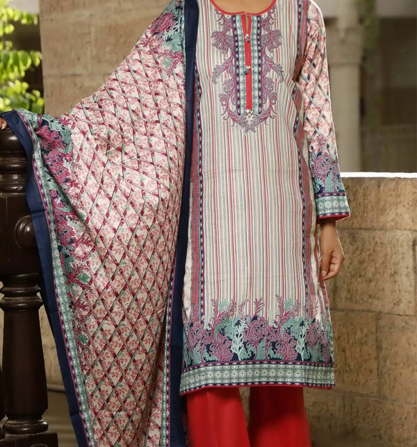 VS Classic Printed Lawn Collection With Lawn Dupatta 20-117A