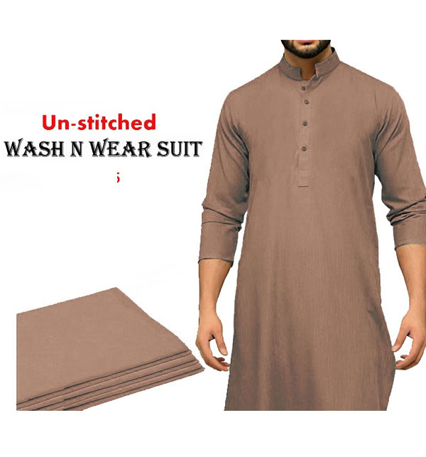 Wash N Wear Un-Stitched Men's Suit Design 2020 (MSK-66)