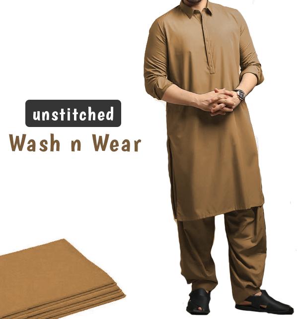 Wash n Wear Unstitched Men's Shalwar Kameez (MSK-73)