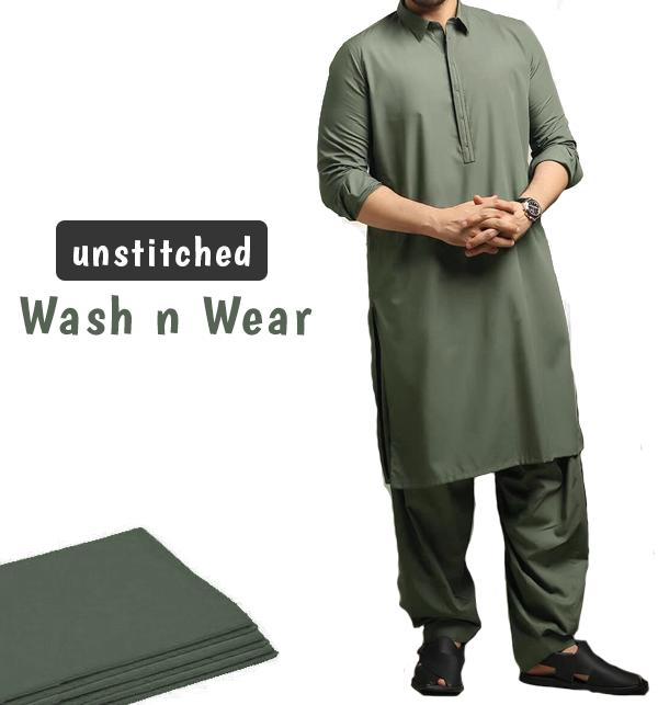 Wash n Wear Unstitched Men's Shalwar Kameez (MSK-75)