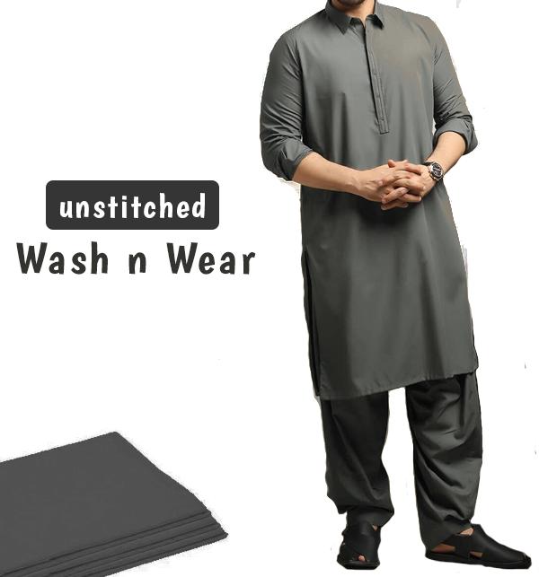 Soft Wash n Wear Unstitched Men's Shalwar Kameez(MSK-78)