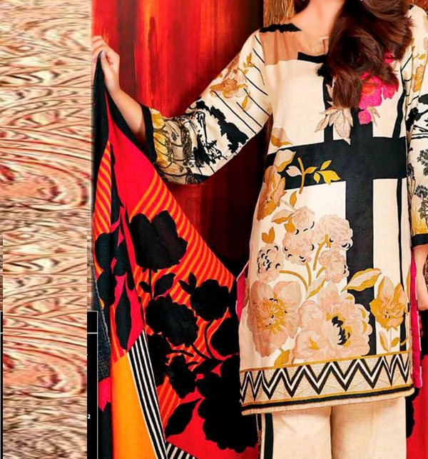 Winter Khaddar Embroidery Dress 2019 2020 With Wool Dupatta (KD-63) (UnStitched)