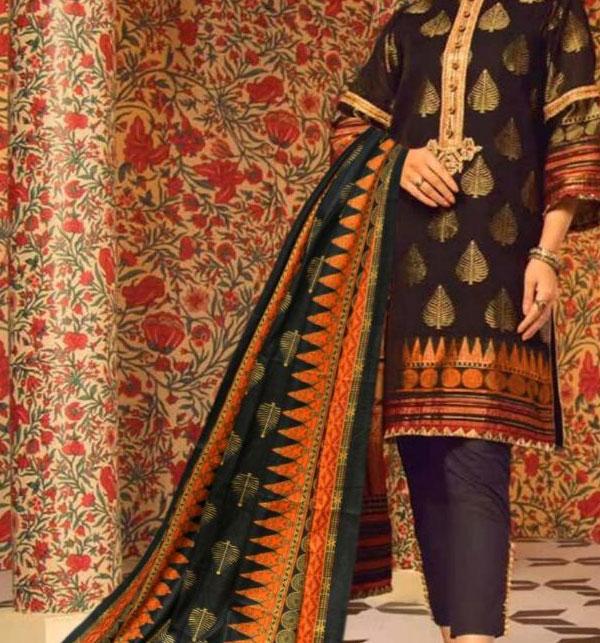 Winter Khaddar Embroidery Dress 2019 2020 With Wool Dupatta (KD-65) (UnStitched)