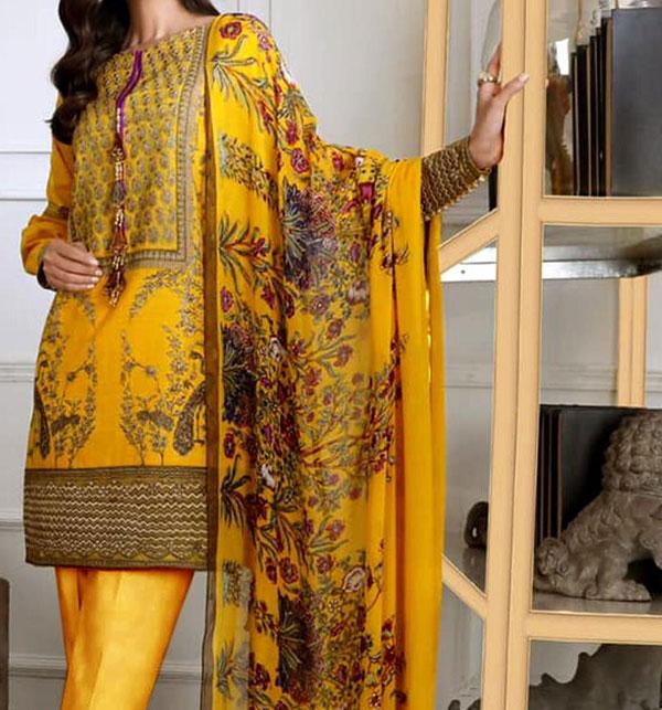 Winter Khaddar Embroidery Dress 2019 2020 With Wool Dupatta (KD-71) (UnStitched)