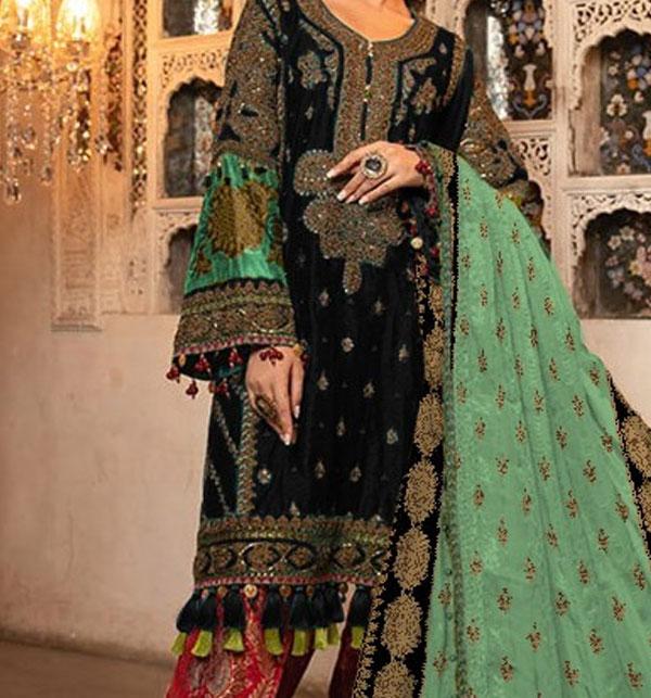 Winter Khaddar Embroidery Dress 2019 2020 With Wool Dupatta (KD-72) (UnStitched)