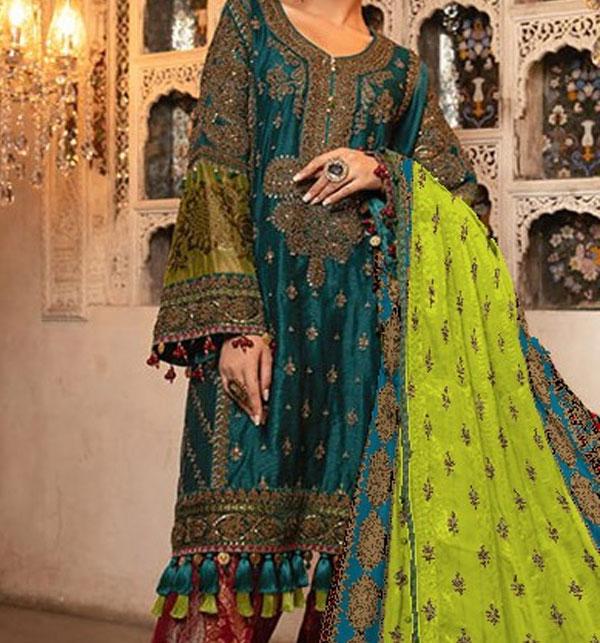 Winter Khaddar Embroidery Dress 2019 2020 With Wool Dupatta (KD-73) (UnStitched)