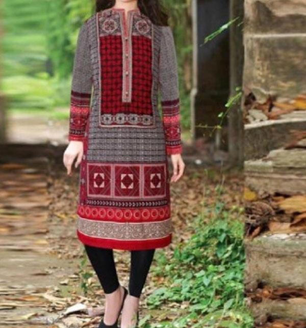 Agrak Design Khadder Embroidered Suit with Wool Dupatta (KD-80) (UnStitched)
