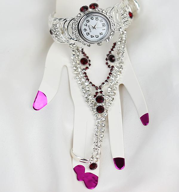 Luxury Girls Bracelets Watch WIth Jewlery Ring (BH-68)